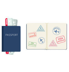 passport on white background vector image