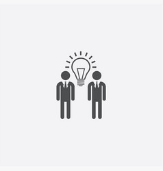 people idea bulb icon vector image