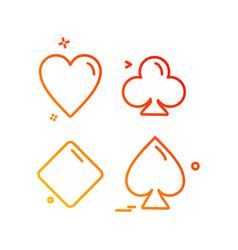 poker icon design vector image