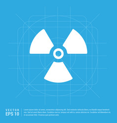 Radiation fan icon vector