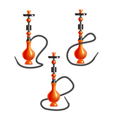 realistic 3d detailed traditional hookah with vector image
