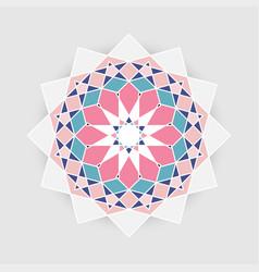 retro arabesque geometric plygonal mandala vector image