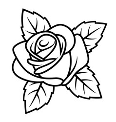 Rose sketch 001 vector