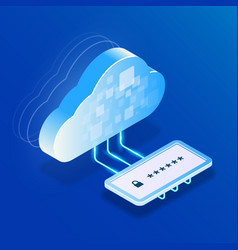 safety cloud storage or computing data access vector image