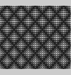 seamless black rhombus pattern vector image