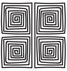 seamless monochrome meander pattern vector image