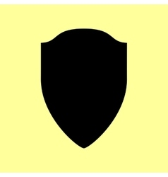 Shield sign Flat style icon vector image