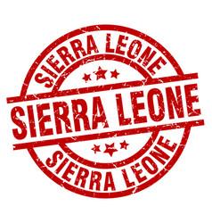 sierra leone red round grunge stamp vector image