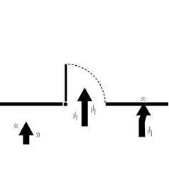 silhouette arrow up direction for the exit vector image