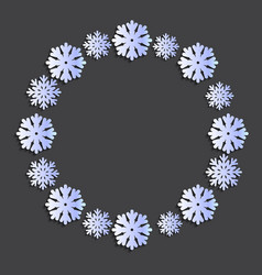 snowflake papercut wreath vector image