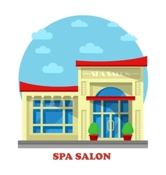Spa or beauty salon or parlor parlour building vector