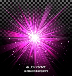 Star with rays white purple in space isolated vector
