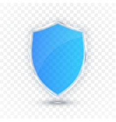transparent shield safety glass badge icon vector image