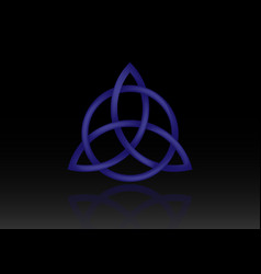 triquetra logo trinity knot wiccan symbol 3d vector image