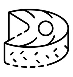 tuna fish piece icon outline style vector image