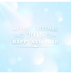 Typography for christmas and 2015 new year vector image