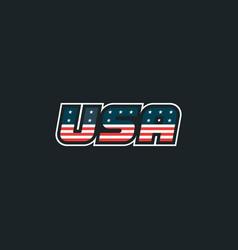 usa logo with usa flag elements usa badge vector image