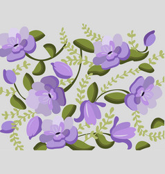 vintage violet flowers handmade pattern vector image vector image
