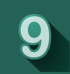 Volume icons number nine vector