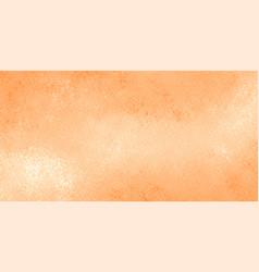 Watercolor texture background in pastel orange vector