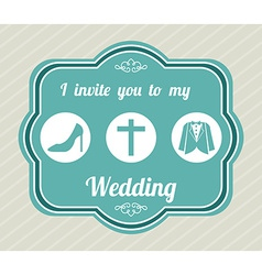 wedding label vector image