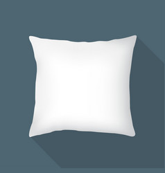 white square pillow cushion vector image