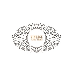 Beautiful picture with a circular wreath of flower vector image vector image