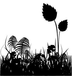 plants silhouette vector image