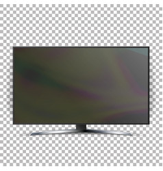 screen lcd plasma isolated on checkered vector image vector image
