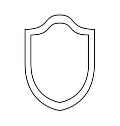 shield security emblem vector image
