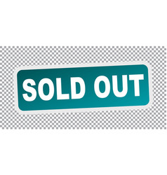 Sold out flat vector