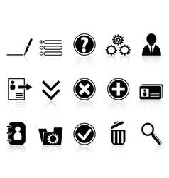 Black internet Account Settings icon vector image