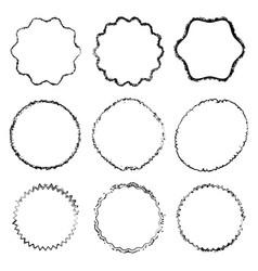 decorative grunge stamps set vector image