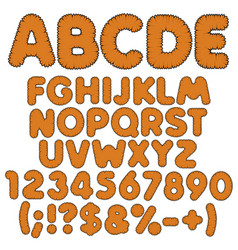 shaggy color alphabet letters numbers and signs vector image vector image