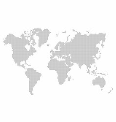 world map dot abstract world map background vector image