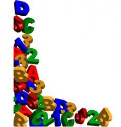 alphabet background frame vector image