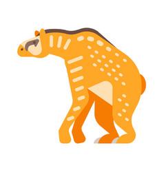flat style prehistoric animal vector image vector image
