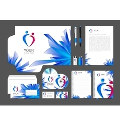 item set of corporate identity for your business vector image