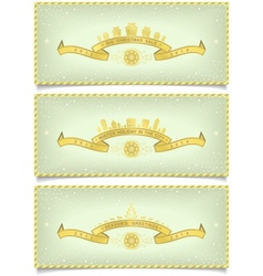 Set of winter banners with holidays design vector image vector image