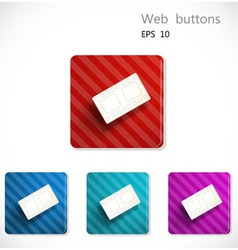 Buttons with icon of film strip vector image