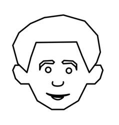 silhouette face happy man icon vector image vector image