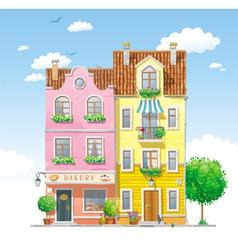 Summer cityscape 1 vector image