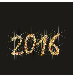 2016 new year fireworks vector