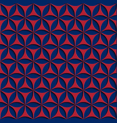 3d red and blue seamless abstract geometric vector