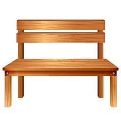 A smooth wooden furniture vector