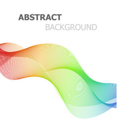 Abstract colorful lines wave on white background vector