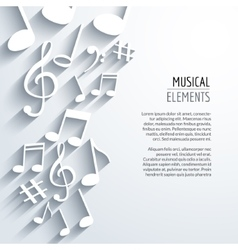 abstract Music notes with shadows On white vector image vector image