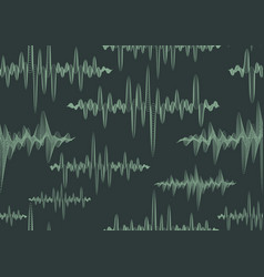 abstract ornate sound waves seamless pattern vector image