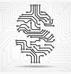 abstract symbol dollar of circuit board vector image