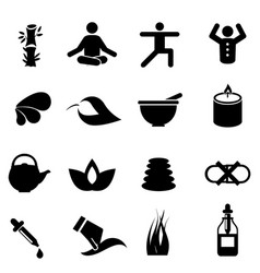 alternative medicine icons vector image